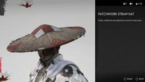Patchwork Straw Hat Helmet Ghost of Tsushima