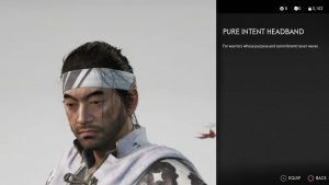 Pure Intent Headband Ghost of Tsushima