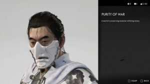 purity of war mask ghost of tsushima