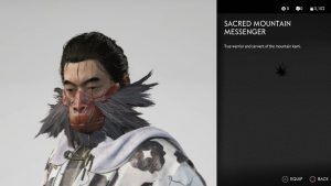 sacred mountain messenger mask ghost of tsushima