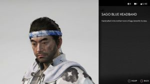 Sago Blue Headband Ghost of Tsushima