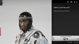 Sakai Clan Helmet Ghost of Tsushima
