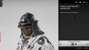 Sakai Clan Helmet Improved Ghost of Tsushima