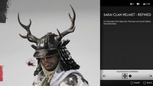 Sakai Clan Helmet Refined Ghost of Tsushima