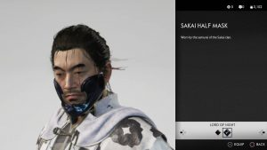 sakai half mask ghost of tsushima