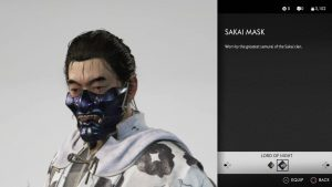 sakai mask ghost of tsushima