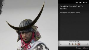 Samurai Clan Helmet Refined Ghost of Tsushima