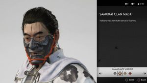 samurai clan mask ghost of tsushima