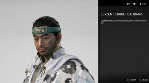 Serpent Strike Headband Ghost of Tsushima