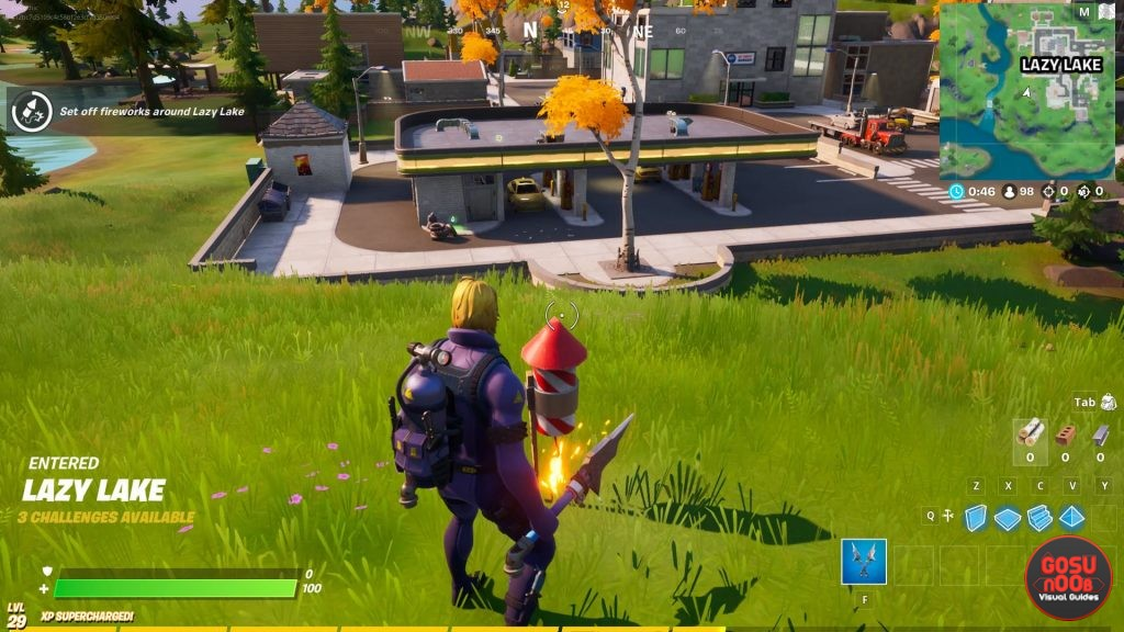 Set Off Fireworks Fortnite - Lazy Lake Locations