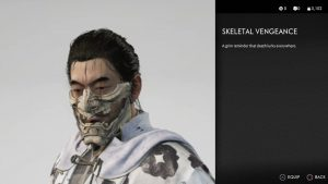 skeletal vengeance mask ghost of tsushima