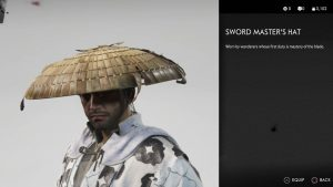 Sword Master's Hat helmet Ghost of Tsushima