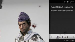 Tadayori's Hat Improved Helmet Ghost of Tsushima