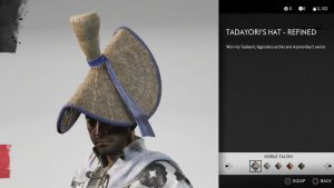 Tadayori's Hat Refined Helmet Ghost of Tsushima