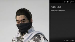 thief's wrap mask ghost of tsushima