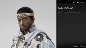 Tora Headband Ghost of Tsushima