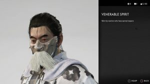 venerable spirit mask ghost of tsushima