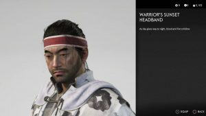 Warrior's Sunset Headband Ghost of Tsushima