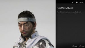 White Headband Ghost of Tsushima
