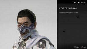 wolf of tsushima mask ghost of tsushima