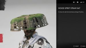 Wood Spirit Straw Hat Helmet Ghost of Tsushima