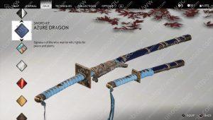 azure dragon sword kit ghost of tsushima
