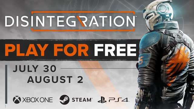 disintegration announces free weekend on pc ps4 & xbox one