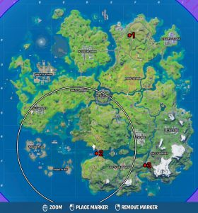 fortnite gold xp coin locations week 6 season 3