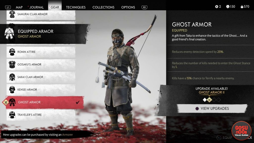 ghost armor ghost of tsushima from the darkness
