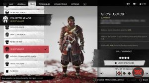 ghost armor red dye ghost of tsushima