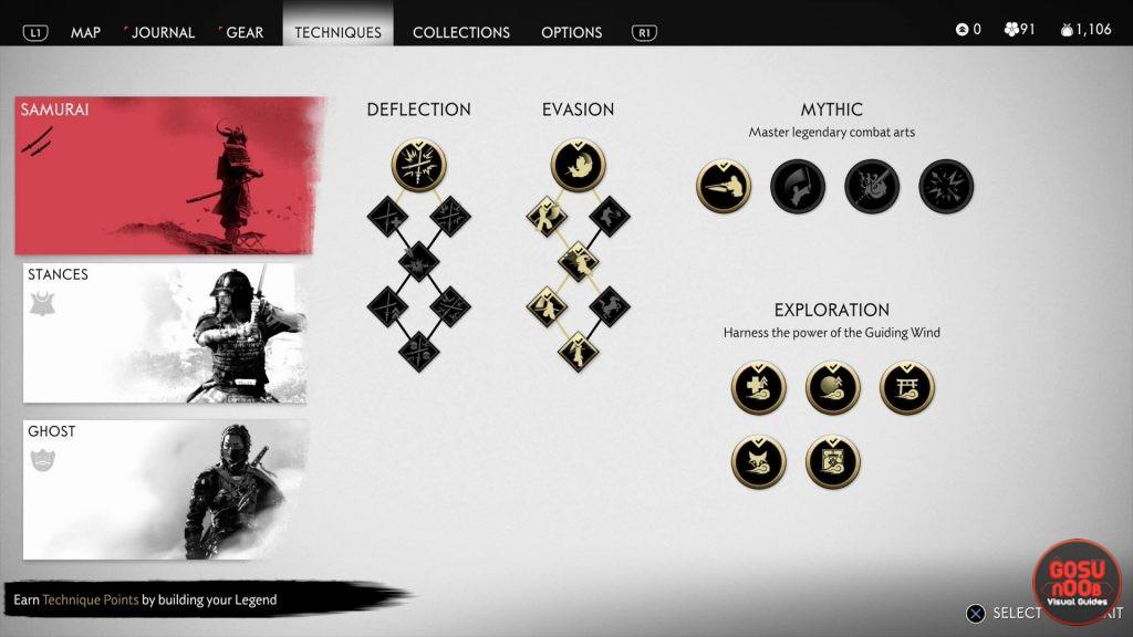 ghost of tsushima best skills & techniques samurai ghost stances