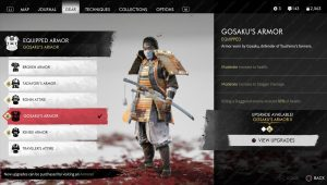 ghost of tsushima gosaku's armor