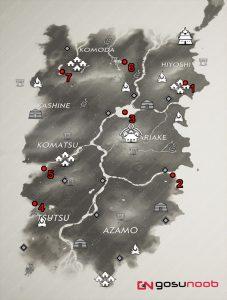 ghost of tsushima haiku locations izuhara