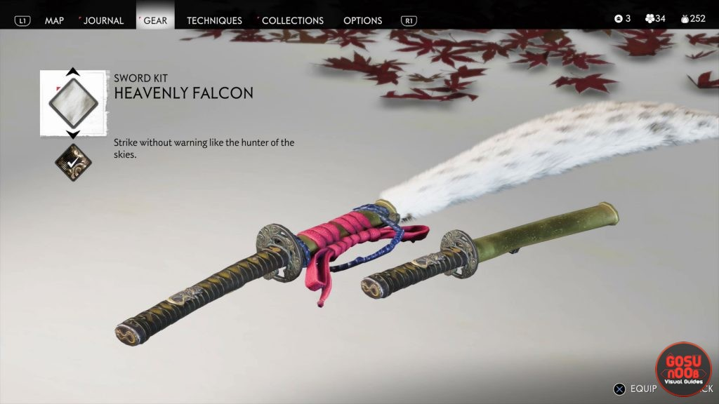 ghost of tsushima heavenly falcon sword kit location heavenly strike