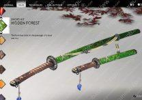 ghost of tsushima hidden forest sword kit