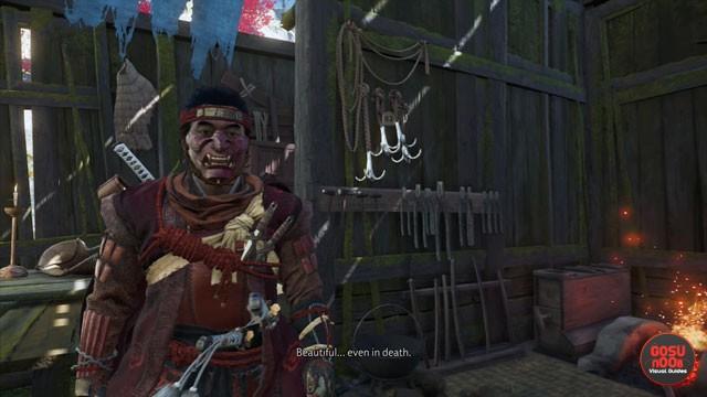 ghost of tsushima red armor dye ghost samurai sakai clan