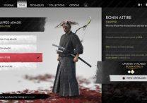 ghost of tsushima ronin attire location