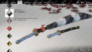 ghost of tsushima sly tanuki sword kit