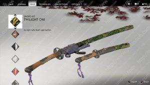 ghost of tsushima twilight oni sword kit
