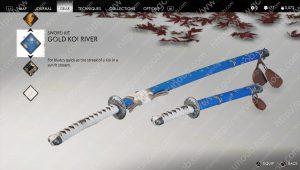 gold koi river sword kit ghost of tsushima