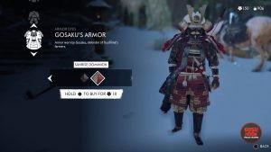 gosakus armor sunrise dominion red dye
