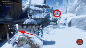 hidden in snow investigate the town step ghost of tsushima