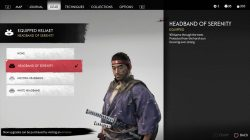 how to get headbands ghost of tsushima