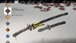 hunting bear sword kit location
