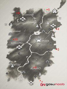 izuhara pillars of honor locations