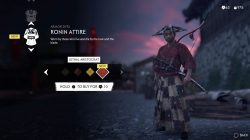lethal aristocrat red armor dye ghost of tsushima ronin attire