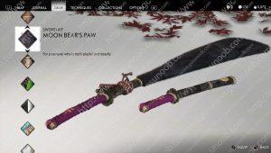 moon bear's paw sword kit