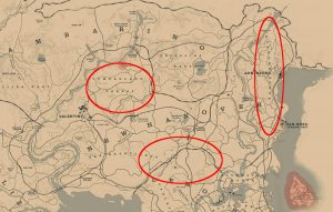 rdr2 online buck antler locations