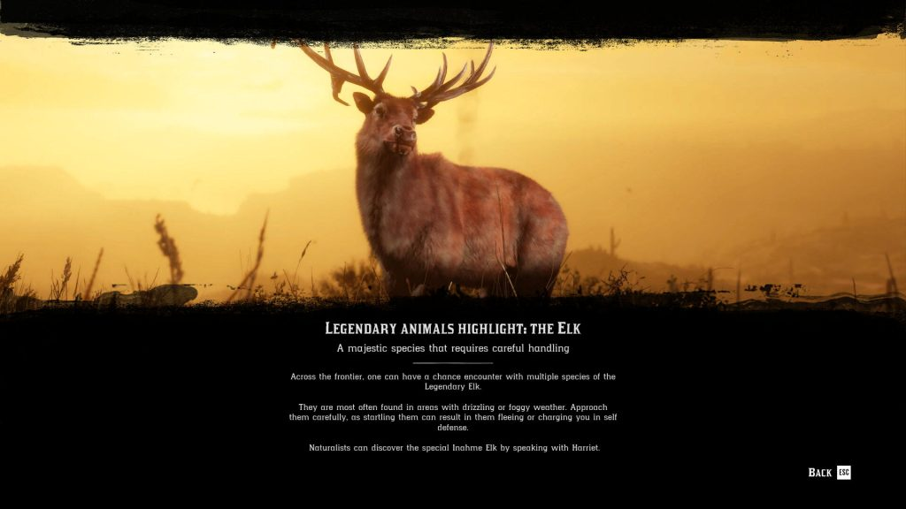 red dead online legendary elk locations ozula inahme