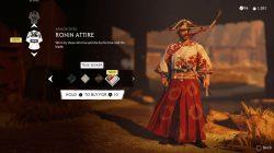 ronin attire true seeker red dye armor